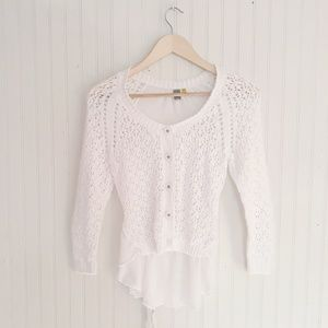 Anthropologie Knitted Knotted Tie  Back Cardigan